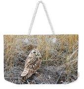 Short Eared Owl Weekender Tote Bag by Michael Chatt