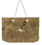 Short-eared Owl With Vole Weekender Tote Bag