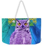 Owl At Night Weekender Tote Bag