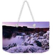 Shoshone Falls In Winter Weekender Tote Bag