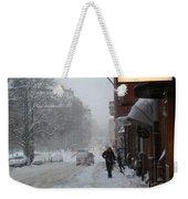 Shoveling Snow Weekender Tote Bag