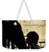 Show Success Quote Weekender Tote Bag