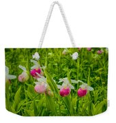 Showy Lady's Slipper Orchids Weekender Tote Bag