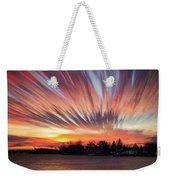 Shredded Sunset Weekender Tote Bag