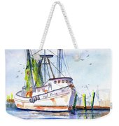 Shrimp Boat Gulf Fishing Weekender Tote Bag