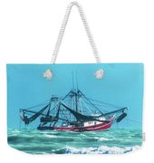 Shrimping On A Windy Day In Key West Weekender Tote Bag