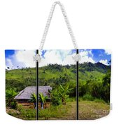 Shuar Hut In The Amazon Weekender Tote Bag