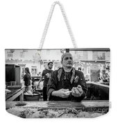 Shucking Oysters 2 - French Quarter- Bw Weekender Tote Bag