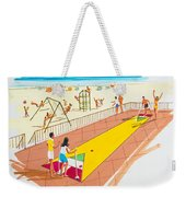 Retro Shuffleboard Art From The 1960's Weekender Tote Bag