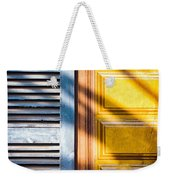 Shutter And Ornate Wall Weekender Tote Bag