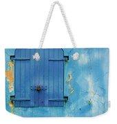 Shuttered Blue Weekender Tote Bag