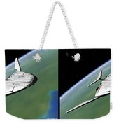 Shuttle X-2010 - Gently Cross Your Eyes And Focus On The Middle Image Weekender Tote Bag