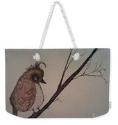Shy Bird Weekender Tote Bag by Ginny Youngblood