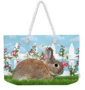Shy Brown Dwarf Bunny Portrait Weekender Tote Bag