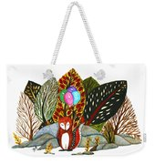 Shy Fox With Balloons  Weekender Tote Bag