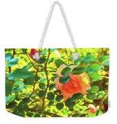 Sketchy Rose Weekender Tote Bag