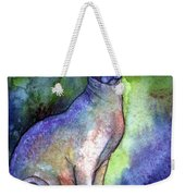 Shynx Cat 2 Painting Weekender Tote Bag by Svetlana Novikova