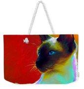 Siamese Cat 10 Painting Weekender Tote Bag