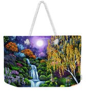 Siamese Cat By A Cascading Waterfall Weekender Tote Bag