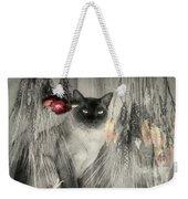 Siamese Cat In Black And White Weekender Tote Bag