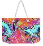 Siberian Cranes Weekender Tote Bag