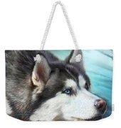 Siberian Husky Weekender Tote Bag