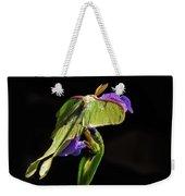Siberian Iris And Luna Moth Weekender Tote Bag