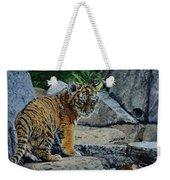 Siberian Tiger Cub Weekender Tote Bag