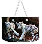 Siberian Tiger Cubs Weekender Tote Bag