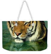 Siberian Tiger Reflection Wildlife Rescue Weekender Tote Bag