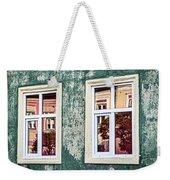 Sibiu Window Reflections - Romania Weekender Tote Bag