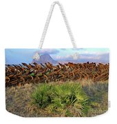 Sicilian Port With Old Anchors Weekender Tote Bag