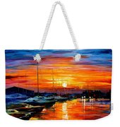 Sicily - Harbor Of Syracuse Weekender Tote Bag