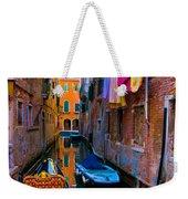 Side Canal  Venice Weekender Tote Bag