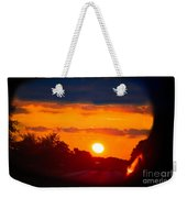 Side Mirror Sunset Weekender Tote Bag