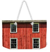 Side Of Barn And Windows At Old World Wisconsin Weekender Tote Bag