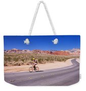 Side Profile Of A Person Cycling Weekender Tote Bag