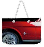 Side View Of 1964 Ford Mustang Weekender Tote Bag
