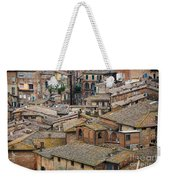 Siena Colored Roofs And Walls In Aerial View Weekender Tote Bag