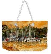 Sienna Sky Boat Marina Nautical Art Weekender Tote Bag