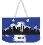 Seattle Skyline Silhouette Weekender Tote Bag