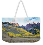 Sievers Peak And Golden Aspens Weekender Tote Bag