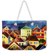 Sight From Above - Palette Knife Oil Painting On Canvas By Leonid Afremov Weekender Tote Bag