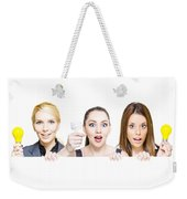 Sign Of Business Innovation And Business Success Weekender Tote Bag