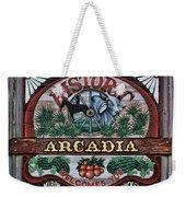 Sign - Welcome To Arcadia Weekender Tote Bag