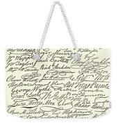 Signatures To The Declaration Of Independence Weekender Tote Bag