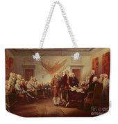 Signing The Declaration Of Independence Weekender Tote Bag by John Trumbull
