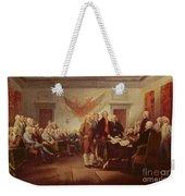 Signing The Declaration Of Independence Weekender Tote Bag