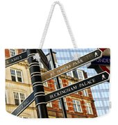 Signpost In London Weekender Tote Bag
