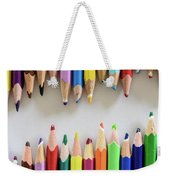Signs Of A Recent Past. Old Colored Pencils Weekender Tote Bag